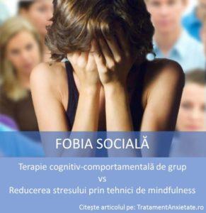 Terapie pentru anxietate sociala